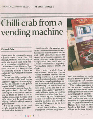 Chilli Crab from a Vending Machine